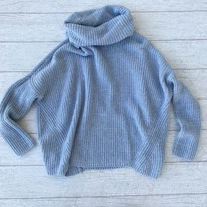 Lou & Grey Light Blue Oversized Cowl Neck Sweater